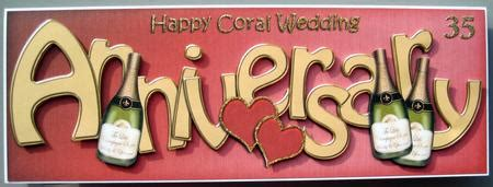 Coral Wedding Anniversary Card Husband by Anniversary Coral Wedding Anniversary Gallery