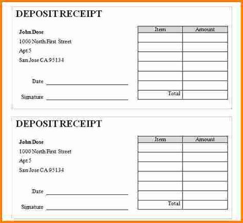 check deposit slip template 4 deposit slip templates excel blank deposit slip template free