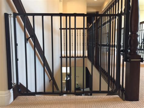 banister safety gate black child safety stair gate installation baby safe homes