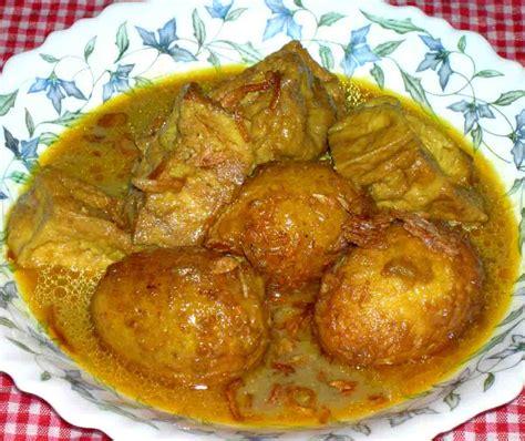 Gulai Ayam Cur Telur Ayam Kental Gurih edisi juni 2006 gulai tahu dan telor