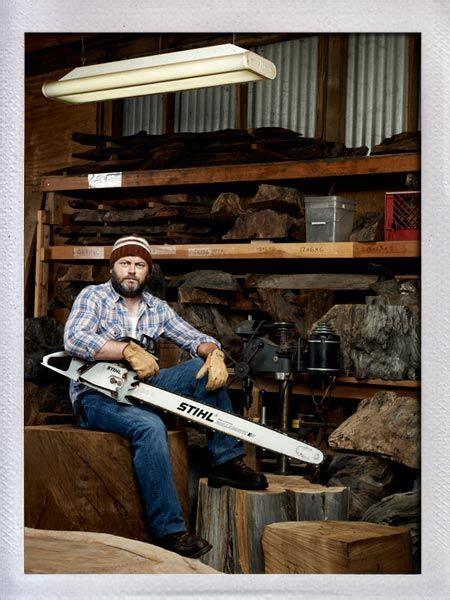 nick offerman woodwork offerman woodshop aka swanson potential alter ego