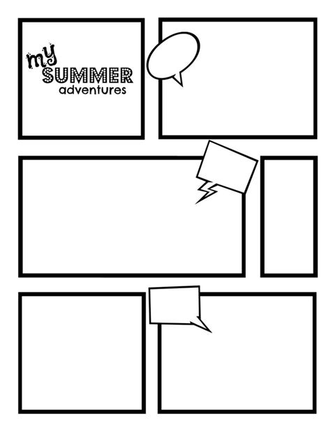 comic strip template best template collection