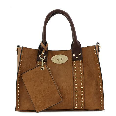 tote vintage handbag brown leather clutch cross