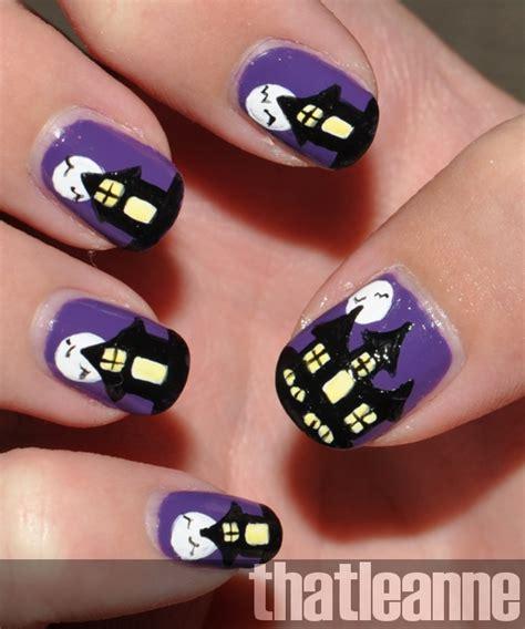nail house thatleanne spooky haunted house nail art for halloween