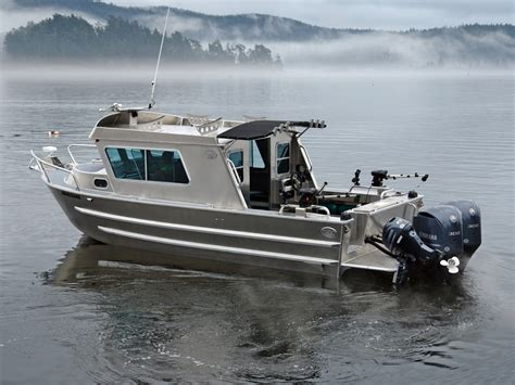 small cabin fishing boats for sale 26 nitinat aluminum cabin boat by silver streak boats