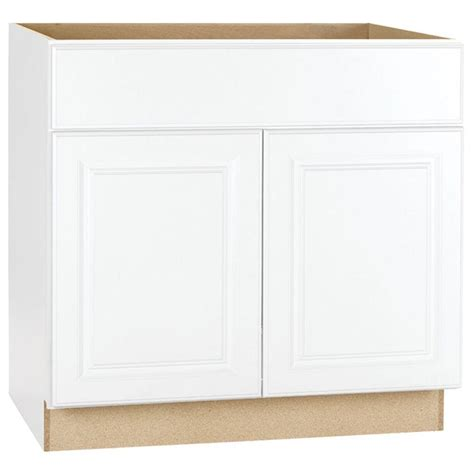 Kitchen Sink Cabinet Base Hton Bay Hton Assembled 36x34 5x24 In Sink Base Kitchen Cabinet In Satin White Ksb36 Sw