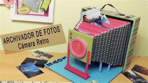 hacer imagenes retro archivador de fotos en forma de c 225 mara retro manualidades