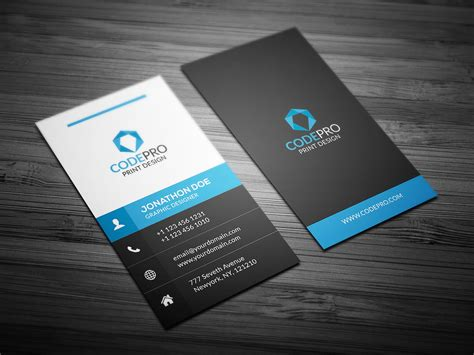 Upload Image Business Card Template Page by Creative Vertical Business Card Business Card Templates