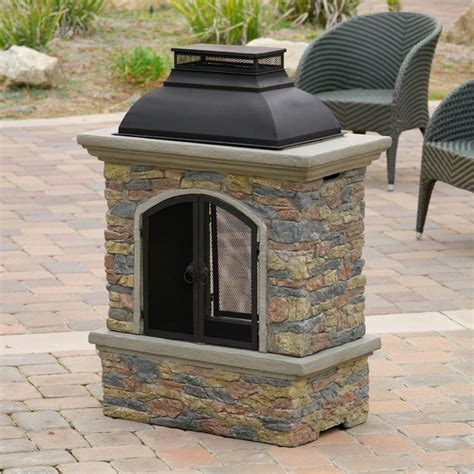 Patio Chiminea Contemporary Outdoor Patio W Outdoor Chiminea Fireplace
