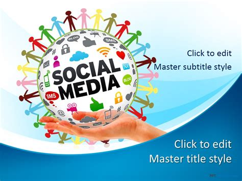 Free Social Media Ppt Template Presentation Media Free