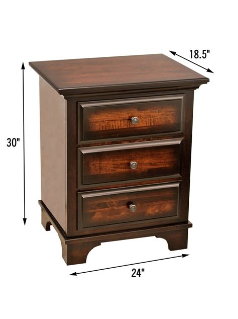 nightstand dimensions miranda 3 drawer nightstand dutch craft furniture