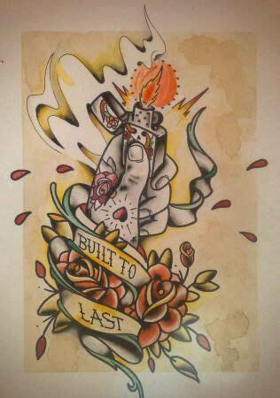 flash tattoo qatar zippo lighter design tattoo sketch dangerous type