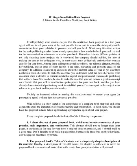 book proposal format nonfiction sle book writing 6 documents in pdf