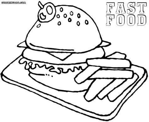 Fast Food Coloring Pages