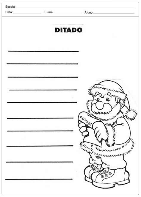 Atividades Escolares de Natal - Ditado - Escola Educação