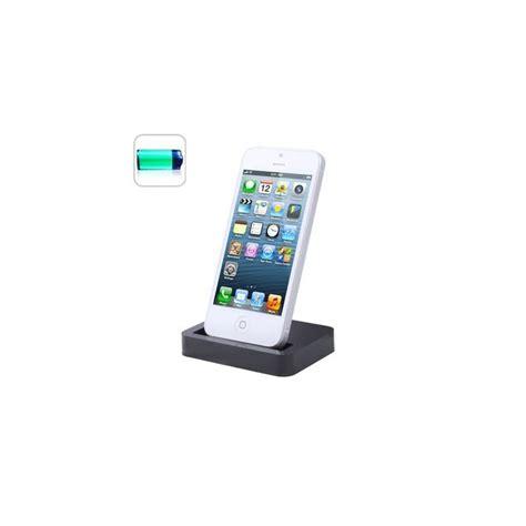 d iphone 5 station d accueil dock de synchronisation chargeur iphone 5 noir