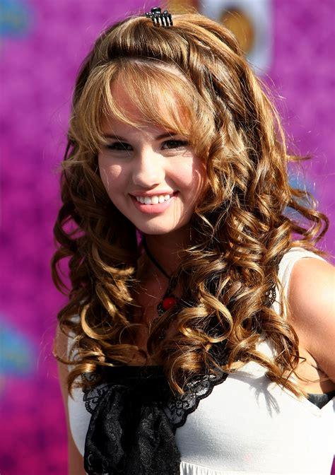 disney teen haircuts long curly brown hairstyles for teen girl from debby ryan
