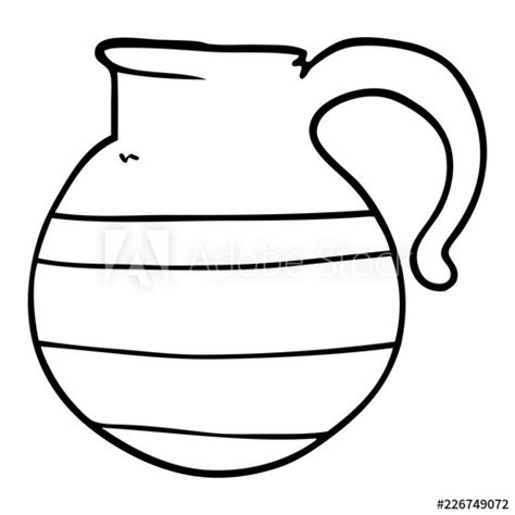 drawing cartoon   jug buy  stock vector