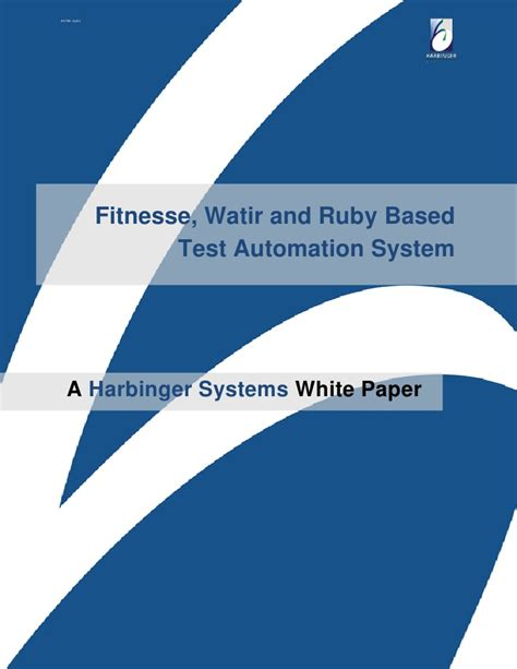 fitnesse watir and ruby based test automation system