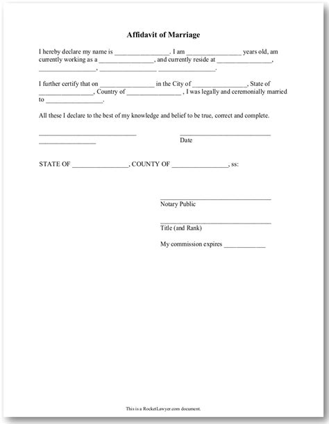 Proof Letter Of Marriage Affidavit Immigration Marriage Images Frompo