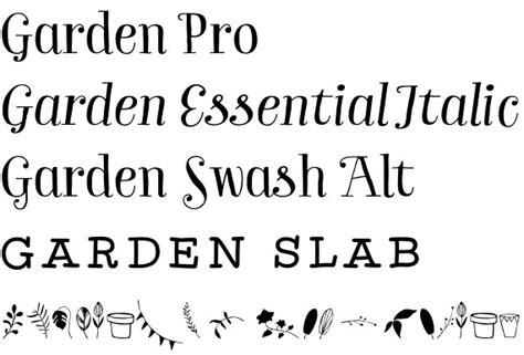 Garden Font by Garden Font A Family Of Inspiration Freshness And