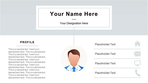 Professional Resume Powerpoint Template Slidemodel Resume Powerpoint Template