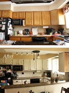 painting oak kitchen cabinets before and after painting oak cabinets for the home pinterest