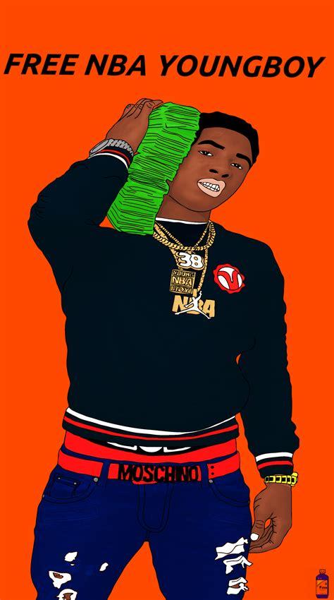 nba young boy cartoon wallpapers top  nba young boy