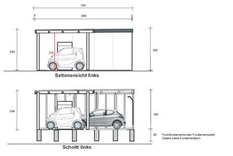 garage zeichnung eine fertiggarage mit carportanbau als sonderl 246 sung