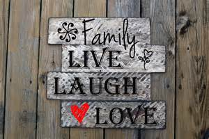 family live laugh love home decor custom vinyl wall art