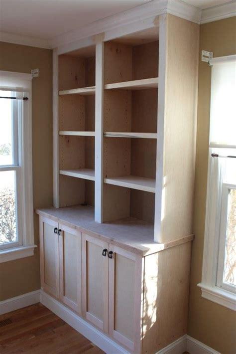 built  bookcase  doors   home