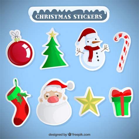 Aufkleber Weihnachten Kostenlos by Variety Of Stickers Vector Free