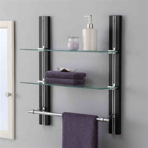 bathroom glass bathroom cabinet with towel bar bathroom