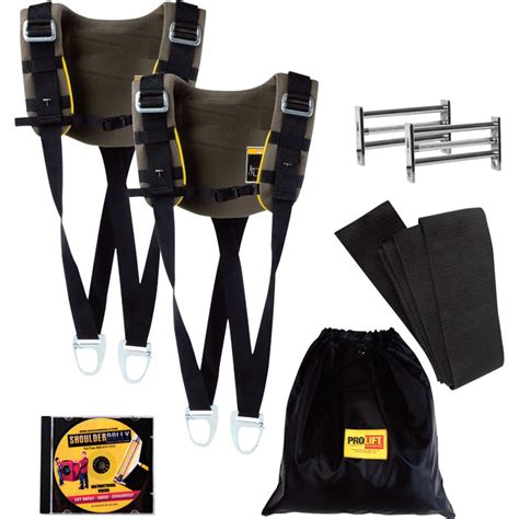 pro lift shoulder dolly moving strap system dual harness