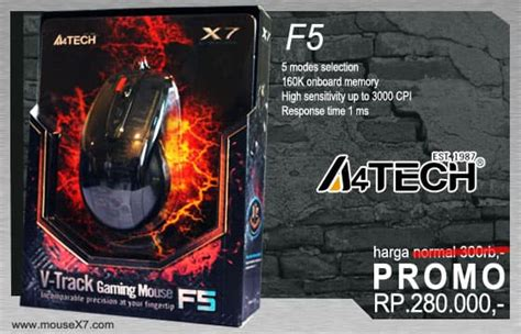A4tech Gaming Mouse Macro X7 F4 Cd jual mouse gaming macro a4tech x7 f4 f5 spider