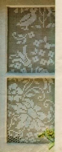 schemi di tende a filet schemi per il filet tende con fiori e uccelli paperblog