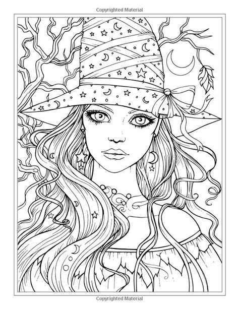 autumn coloring book witches vires