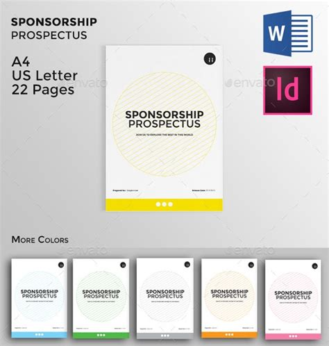 sponsorship proposal template word indesign and psd