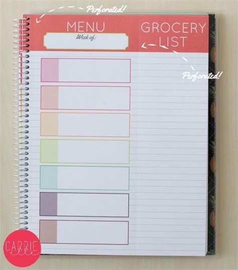 printable meal planner by carrie lindsey best 25 meal planner ideas on pinterest meal planner