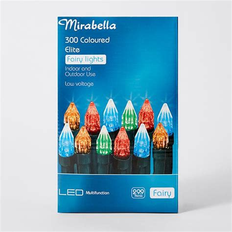 mirabella christmas 300 led elite fairy lights coloured