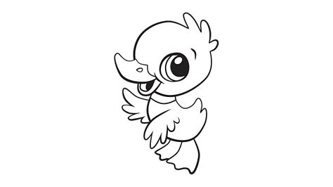 baby duck coloring printable