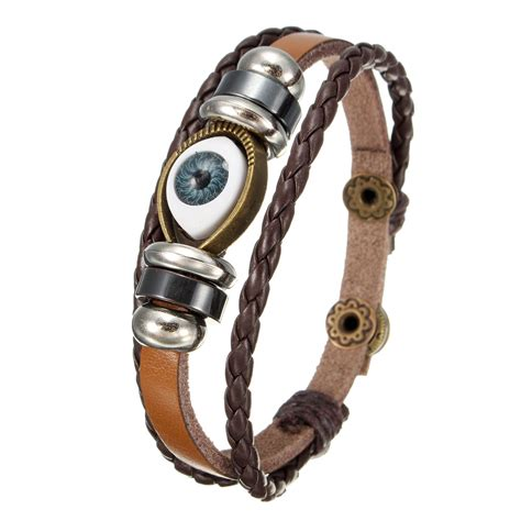Genuine Leather Bracelet genuine leather bracelet jewelry eye leaf