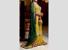 Latest Bridal Mehndi Dresses Designs 2018-2019 Collection Indian Designer Bridal Dresses 2017