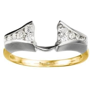 Chagne Topaz 12 25ct best 12 wedding band guard ring images on