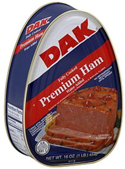 Dak Ham Shelf by Dak Ham Premium Water Added 16 0 Oz Nutrition Information