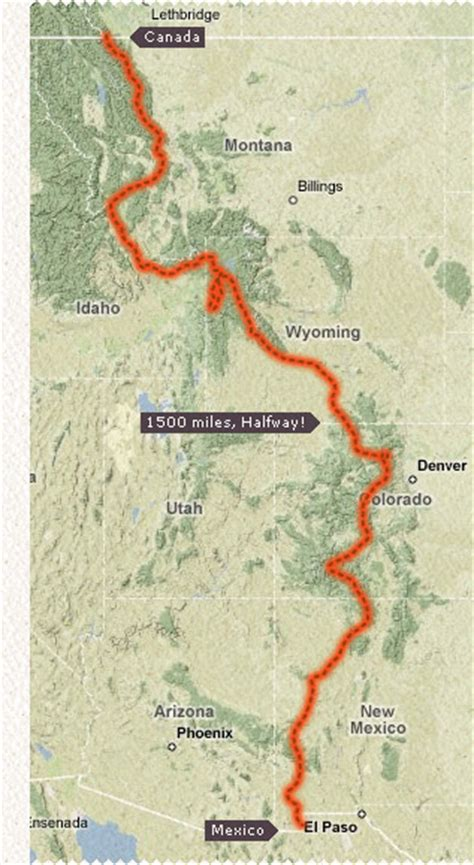 colorado continental divide map you re 6 months of hiking from mexico to canada