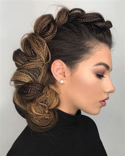 Black Braid Hairstyle by Mohawk Braid Hairstyles Black Braided Mohawk Hairstyles