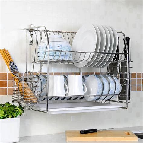 Wall Mounted Stainless Steel Dish Drying Rack by Wholesale Wall Mounted Dish Drying Rack Wall Mounted Dish Drying Rack Wholesale Supplier