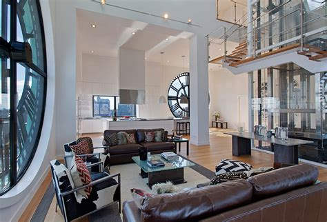 home design in nyc clock tower triplex apartment in new york