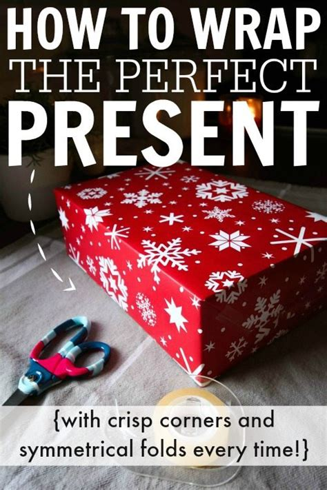 how to perfectly wrap a gift how to wrap the present the creek line